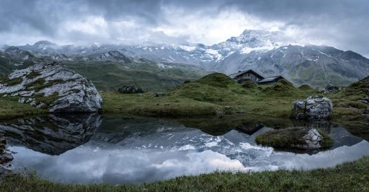 Morgenstimmung im Berner Oberland.