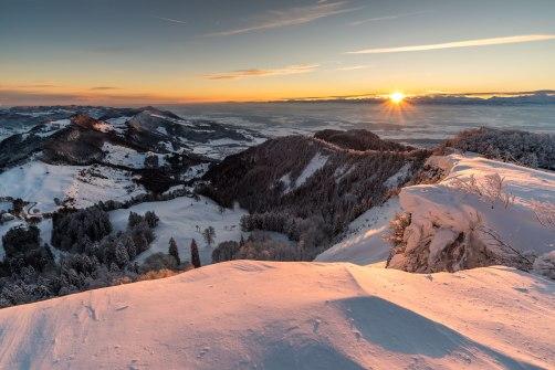Aussicht von Röti über den Balmberg und das Mittelland