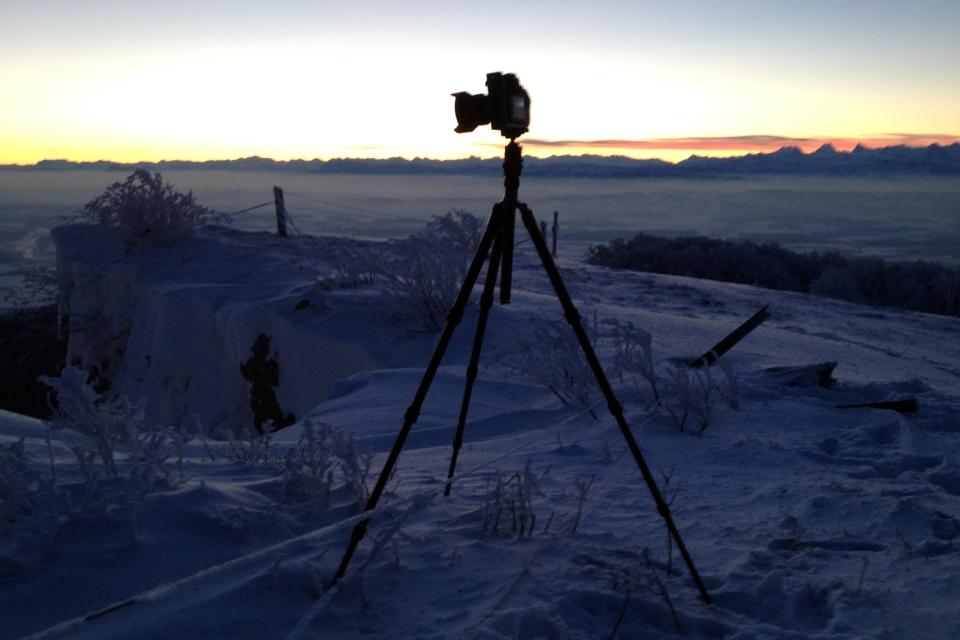 Gitzo GT2542T Stativ im Einsatz an einem sehr kalten morgen