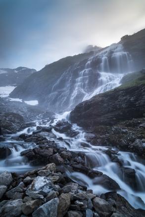 Wasserfall in den Berneralpen