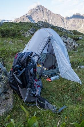 Mein gemühtlichs Nachtlager mitten in der Natur :-)