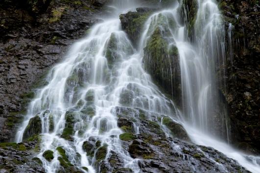 Der Wasserfall im Gental aus der Nähe