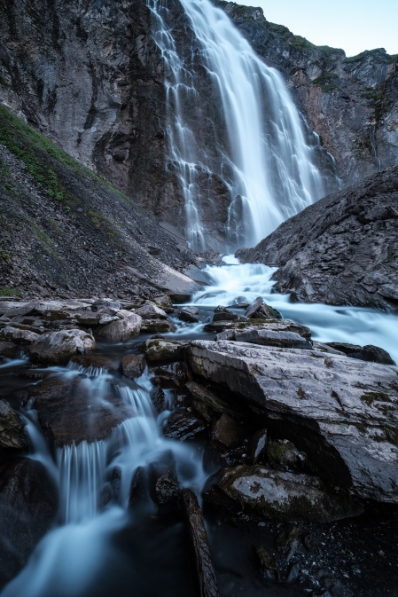 Graufilter für den Flusseffekt im Wasserfall